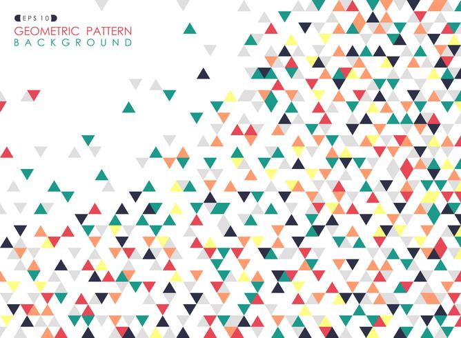 Abstract of colorful triangle geometric pattern cover background.