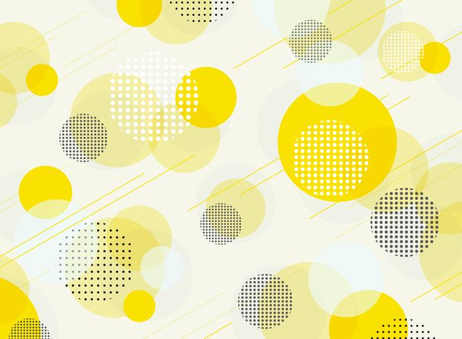 Abstract of simple round bubble yellow geometric pattern background. vector