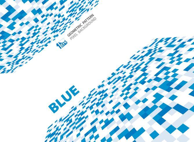 Abstrakt pixelblå geometrisk mönsterdesign.