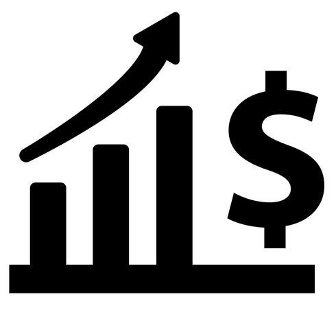 Financieel voortgangspictogram vector