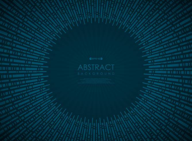 Teste padrão geométrico do inclinação azul abstrato do círculo da tecnologia. vetor