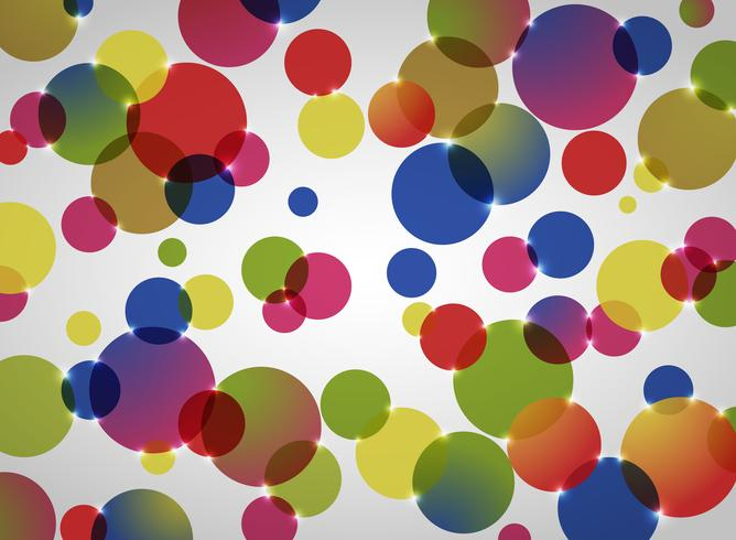 Abstract background of colorful circle pattern. vector