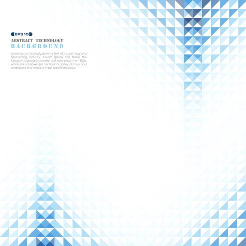 Abstrakte blaue geometrische abstrakte Technologie. vektor