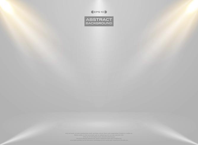 Sumário da apresentação da sala do estúdio das luzes no fundo do branco do inclinação.