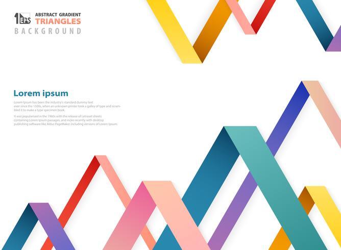 Color de degradado de fantasía abstracta de triángulos superpuestos forma patrón. vector