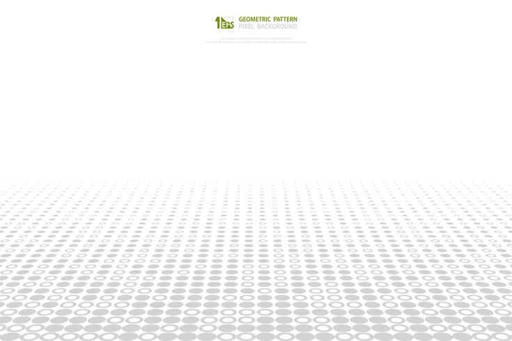 Cercle abstrait gris et blanc pixel modèle couverture de fond. illustration vectorielle eps10