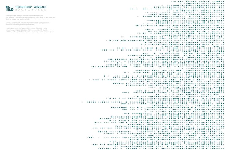Línea azul abstracta fondo grande de la tecnología de los datos del modelo de puntos diseño de la cubierta del diseño. ilustración vectorial eps10 vector