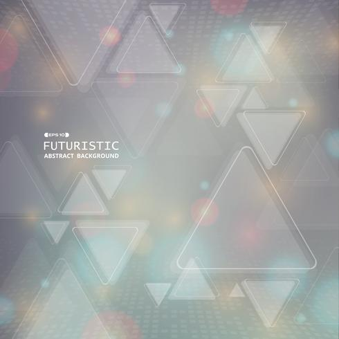 Abstract futuristic colorful geometric triangle pattern digital background. vector