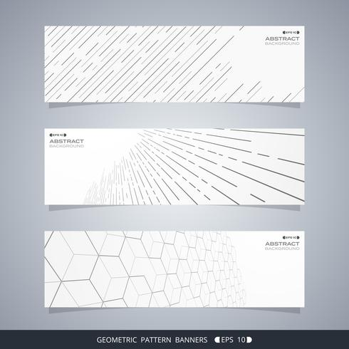 Abstract of modern geometric line banners. vector