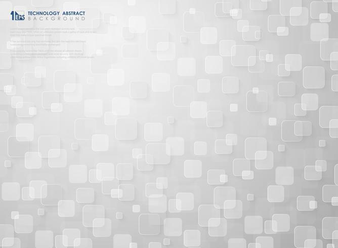 Futuristisches kleines quadratisches Musterdesign des weißen Technologiehintergrundes. Abbildung Vektor eps10