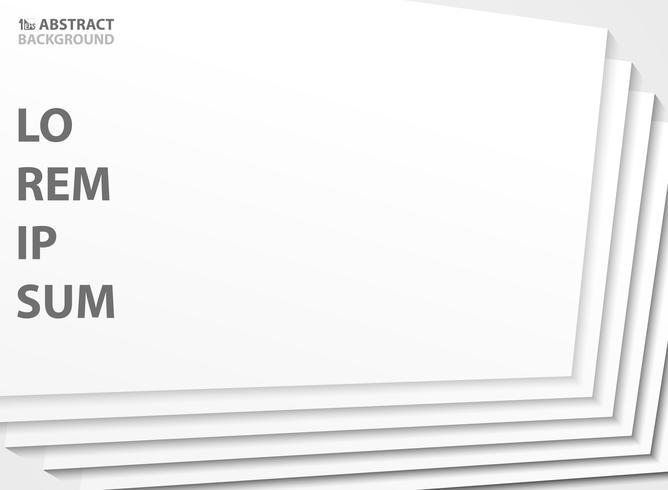 Color blanco abstracto del fondo del diseño del modelo de la plantilla del corte del papel. ilustración vectorial eps10