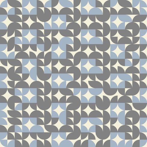 Fundo geométrico abstrato da cor do teste padrão do círculo retro.