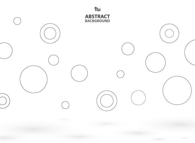 De samenvatting van eenvoudige cirkels stuitert achtergrond met schaduw.