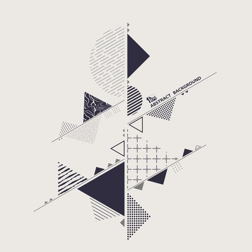 Elegante moderno del fondo azul geométrico de la abstracción del color. vector