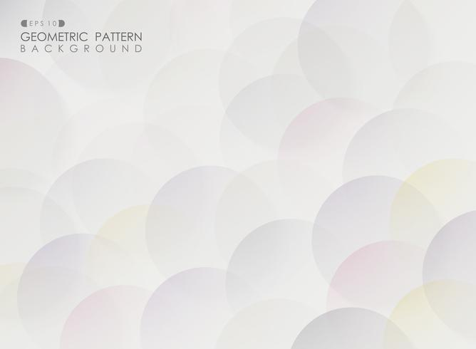 Abstract of colorful circle pattern geometric pattern background.
