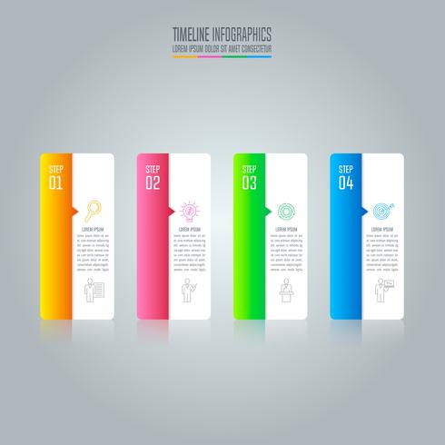 infographic design business concept with 4 options. vector