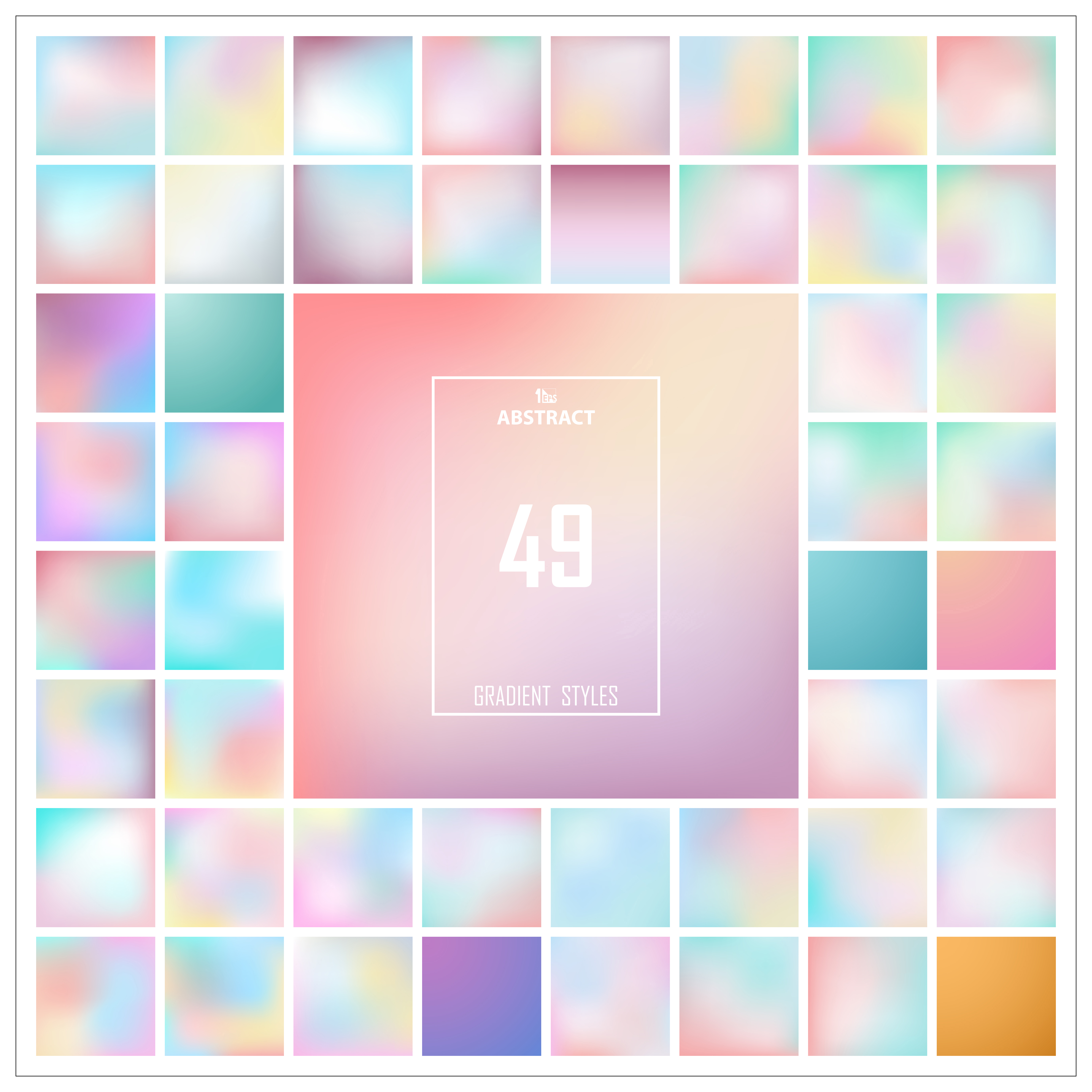 Abstract Colorful Gradient Background Set Pattern. You Can