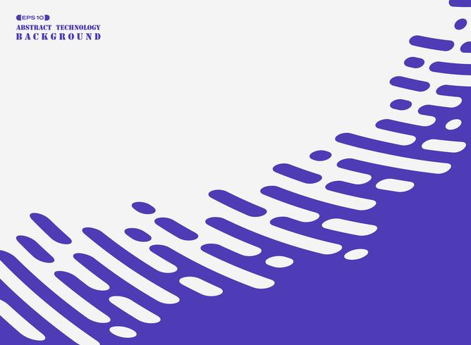 Abstract stripe line of purple on white background.
