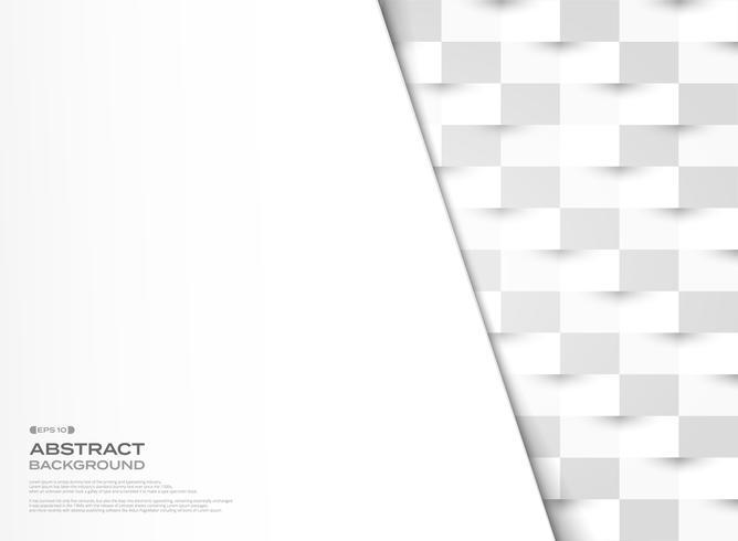 Abstraktes graues und Weißbuch schnitt geometrischen Mustervektor-Designhintergrund. Abbildung Vektor eps10