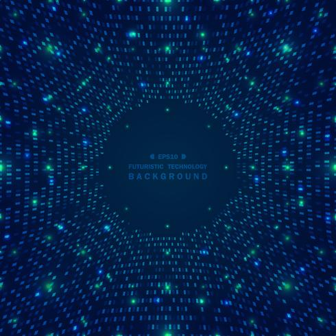Abstract big data of blue square pattern grid futuristic digital background.