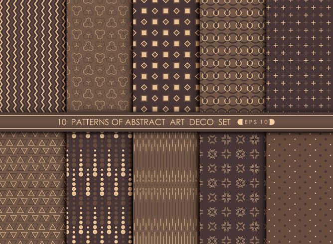 Abstrakte moderne Antike des Art DecoMuster-Designsatzes.