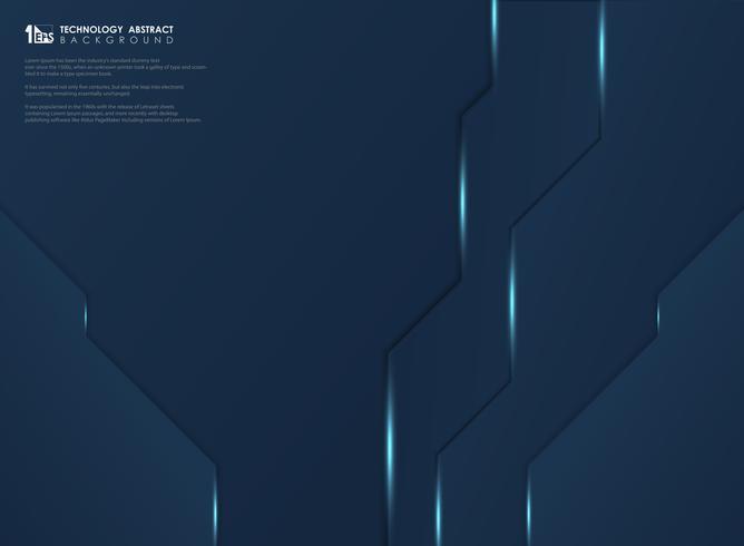 Fondo azul marino abstracto de la plantilla de la tecnología de la pendiente. ilustración vectorial eps10