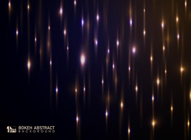 Abstrakt bokeh av ljus bakgrund med glitters dekoration.