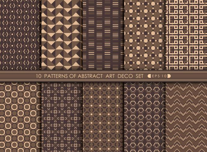 Abstract art deco pattern geometric design background.  vector