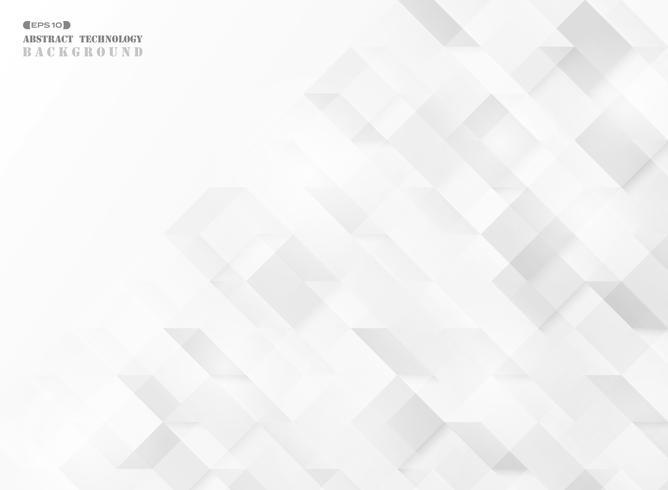 Fondo geometrico quadrato astratto di vettore di progettazione di tecnologia del modello del cubo. illustrazione vettoriale eps10