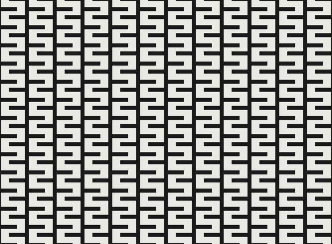 Design pattern geometrico quadrato bianco e nero. vettore