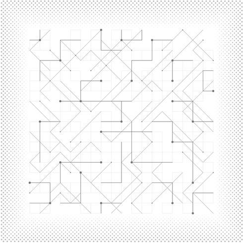 Vector abstracto línea gris triángulo geométrico cuadrado punteado tecnología diseño minimalista cubierta. ilustración vectorial eps10