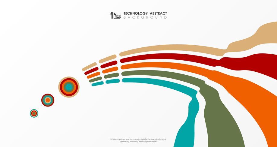 Abstrakt färgstark mönster design täcka affärsstrimellinje modern bakgrund. illustration vektor eps10
