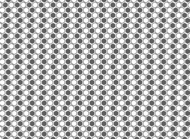 Abstract hexagon pattern grey and white decoration background. illustration vector eps10