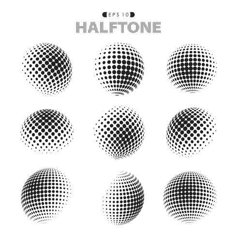 Abstrakt modern halvton prickar mönster svart och vitt.