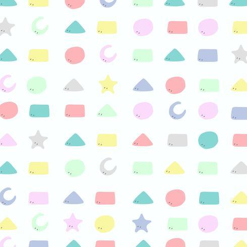 Abstraktes buntes geometrisches Muster des netten Designs für Kinderhintergrund.