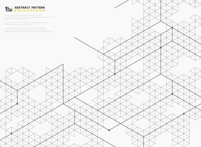 La línea cuadrada moderna abstracta estructura el diseño del modelo de fondo geométrico. ilustración vectorial eps10 vector