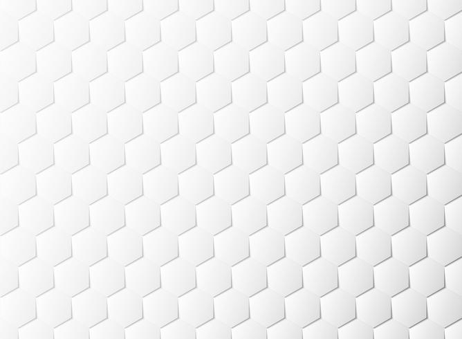 Fondo astratto della decorazione di progettazione del taglio della carta bianca del modello di esagono. illustrazione vettoriale eps10