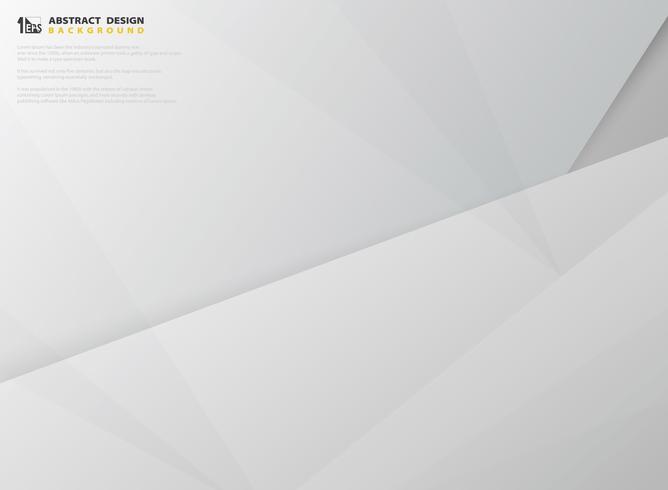 Il vettore astratto del modello di progettazione del taglio della carta di colore grigio e bianco di pendenza. illustrazione vettoriale eps10