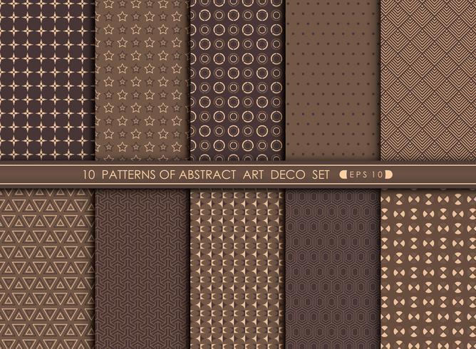 Vecchio fondo astratto di progettazione geometrica del modello di art deco astratto. vettore