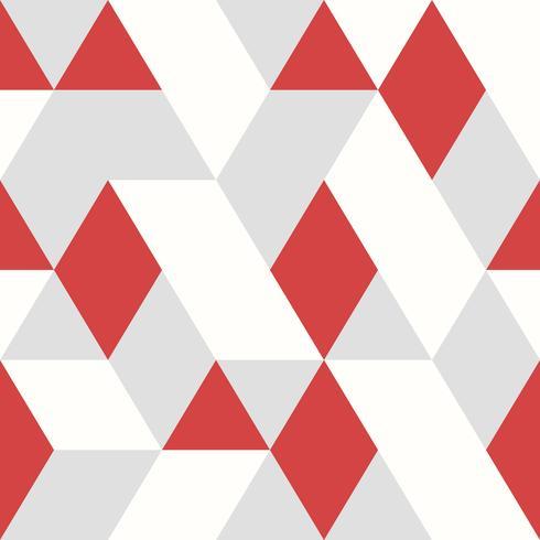 Estilo sem emenda do projeto vermelho abstrato do teste padrão do vetor dos triângulos no fundo cinzento branco. ilustração vetorial eps10