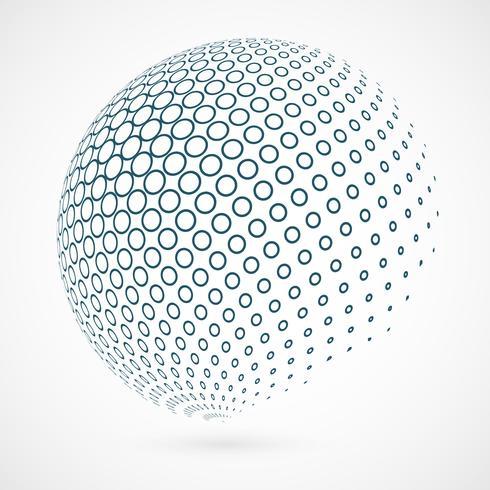 Esquema abstracto del círculo global de la tecnología azul del fondo.