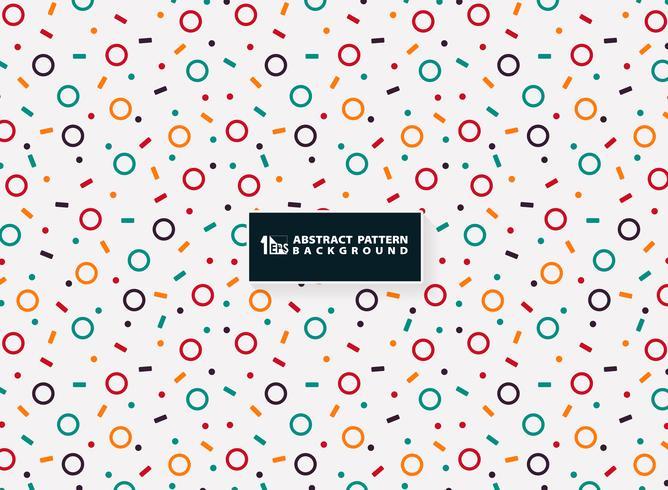 Progettazione geometrica variopinta astratta del modello del fondo moderno degli elementi. Decorando per le piccole arti, puoi usare per il confezionamento, la pubblicità, la stampa, la carta, le opere d'arte. vettore