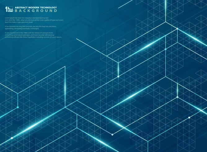 Moderne futuristisch van blauwe structuur lijn energie patroon ontwerp achtergrond. illustratie vector eps10