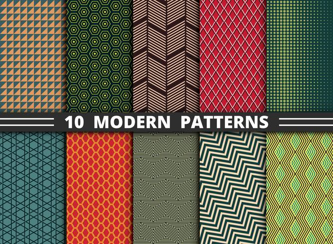 Abstract modern pattern of geometric colorful style set background.