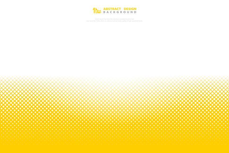 Minimaler geometrischer Musterquadrat-Dekorationshintergrund des abstrakten gelben Farbhalbtons. Abbildung Vektor eps10