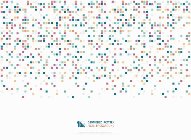 Tono colorido corporativo abstracto del fondo geométrico de la cubierta del arte del modelo de la decoración del pixel cuadrado de la caja. ilustración vectorial eps10