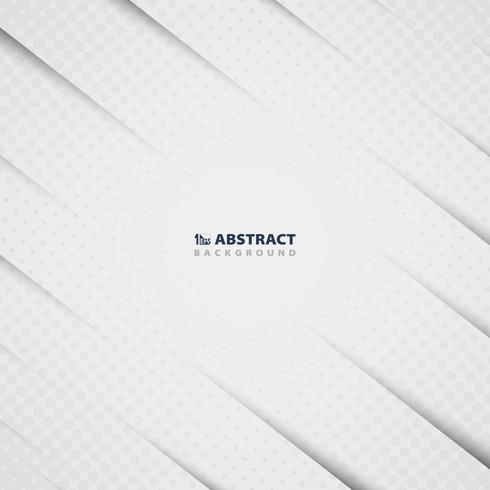El Libro Blanco abstracto cortó el modelo con el fondo de adornamiento moderno de semitono del diseño. Puede utilizar para obras de arte, póster, portada, impresión, libro, informe anual. vector