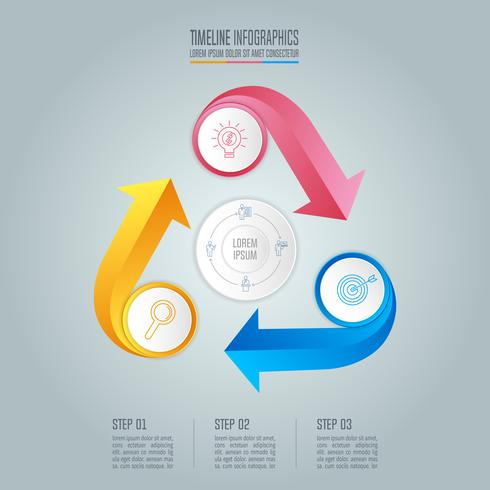 infographic design business concept with 3 options. vector