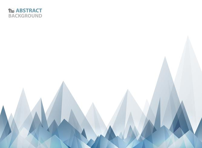 Abstract soft wide blue triangle pattern geometric of mountain shape.