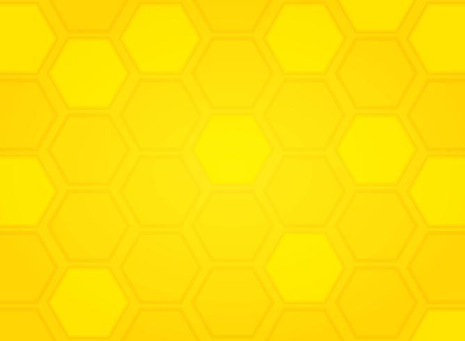 Abstrakter moderner gelber Bienenstockmuster-Hexagonhintergrund. Abbildung Vektor eps10